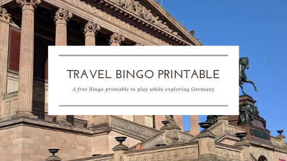 german travel bingo printable